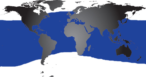 Map of where Bottlenose Dolphins Live Dolphin Facts and Information – Map World Live