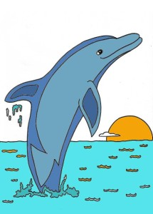 dolphin_coloring_page_2_col